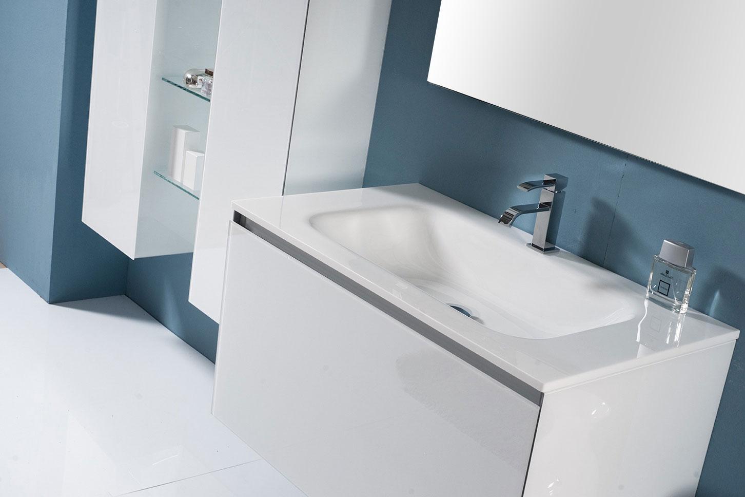 Bathroom grey walls - Domino Info Bathroom Design Bathroom S Furnishings